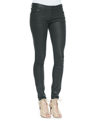 Coated Skinny Denim Jeans
