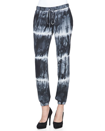 Haute Mess Loose Slub Tee & Tie-Dye Drawstring Harem Pants