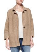 Merino Notch-Collar One-Button Jacket