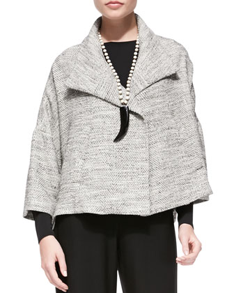 3/4-Sleeve A-line Jacket