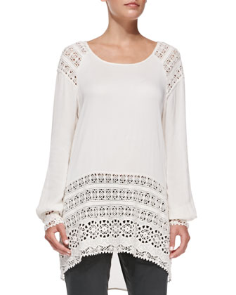 Casey Tunic with Lace Trim