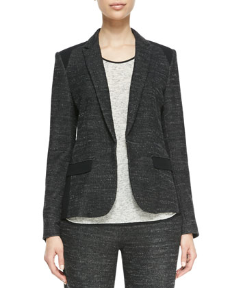 Howard Solid-Accent Blazer, Spine Solid-Trim Slub Tank & Owen Solid-Top ...