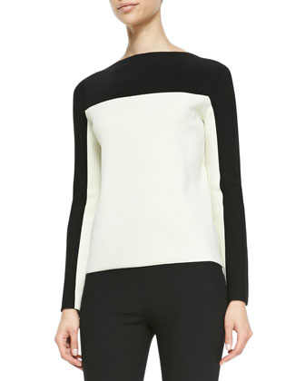 Roxy Two-Tone Knit Top