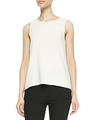Harper Sheer-Back Sleeveless Top