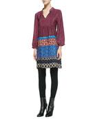 Sava Printed Silk Tunic