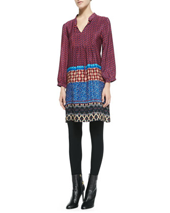 Sava Printed Silk Tunic