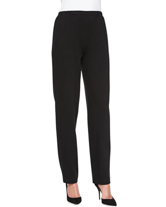 Ponte Slim Pants, Black