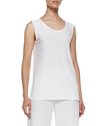Stretch Knit Long Tank, Women's