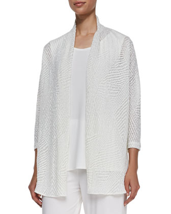 Sheer Jacquard Cardigan, Women's