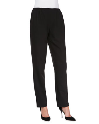 Travel Gabardine Slim Pants, Black, Petite