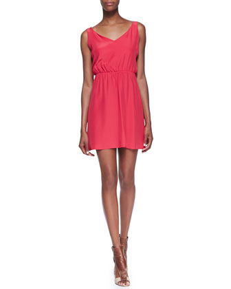 Chloe Strappy Cutout Dress, Strawberry