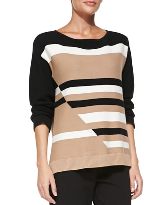 Broken Stripe Sweater, Petite