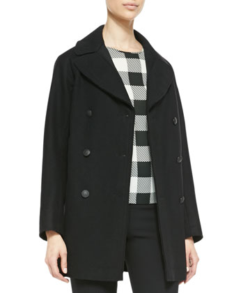 Stanley Wide-Lapel Wool-Blend Peacoat