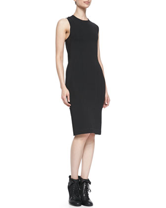 Tara Lace-Up-Back Sleeveless Dress