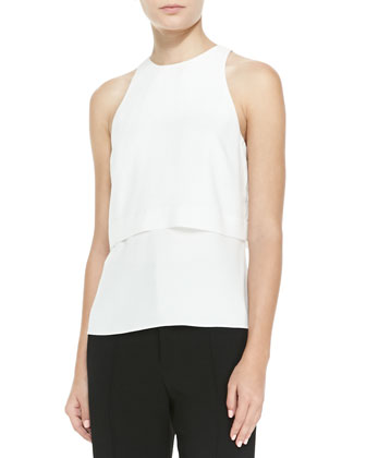 Mike Tiered Sleeveless Top