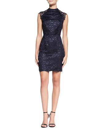 Mariah Sleeveless Lace Sheath Dress