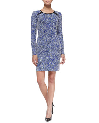 Brooklyn Twill Jacquard Minidress