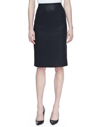 Tweed No-Waist Pencil Skirt