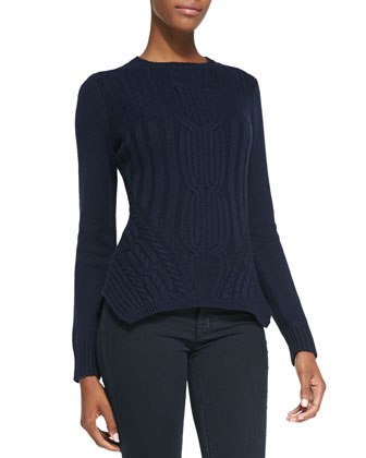 Daisum Chain-Knit Sweater, Blue