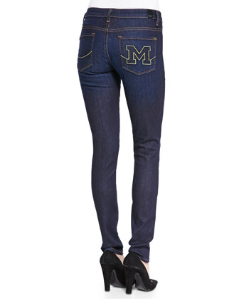 Michigan?? Branded Skinny Jeans, Blue