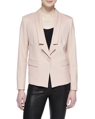 Gabardine One-Button Jacket