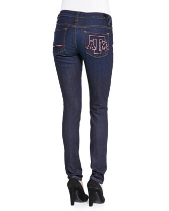 Texas A&M?? Branded Skinny Jeans, Blue