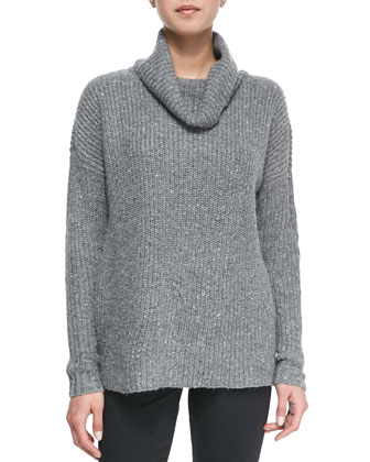 Lynfall Ribbed Knit Turtleneck Sweater