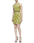Fitted Racerback Botanical Dress