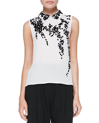 Dorota Embellished Sleeveless Blouse