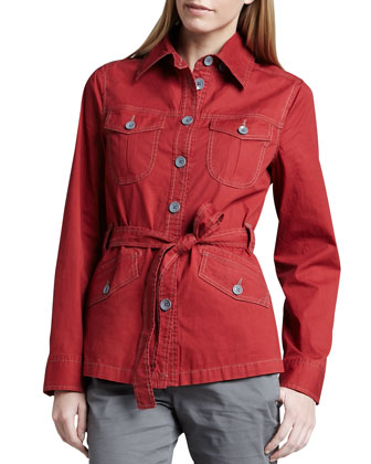 Taylor Tie-Front Dobby Jacket