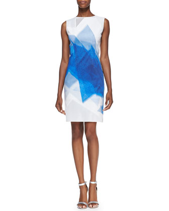 Alyssa Sleeveless Geometric Python-Print Dress