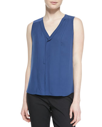 Skyler Sleeveless Silk Blouse