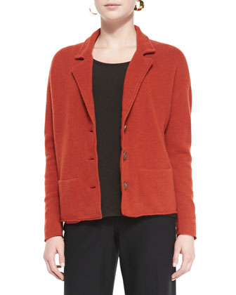 Notch-Collar Lambswool Jacket, Slim Jersey Tee, Straight-Leg Pants & ...