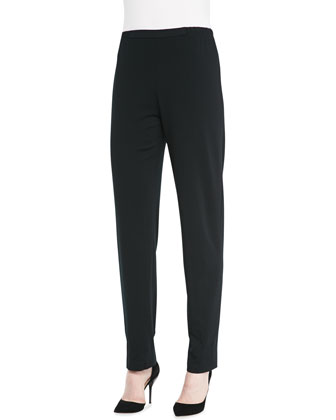 Lightweight Ponte Straight-Leg Pants, Petite