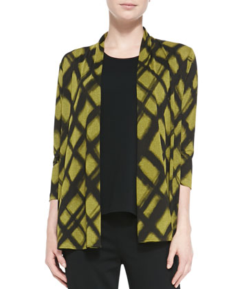 Abstract Argyle Cardigan, Petite