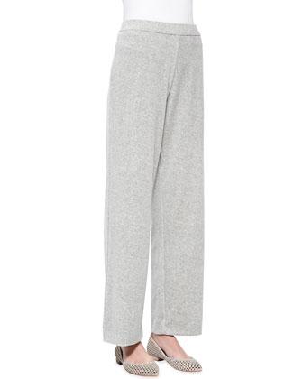 Solid Velour Pants, Petite