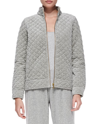 Quilted Velour Jacket, Tank & Pants, Women's