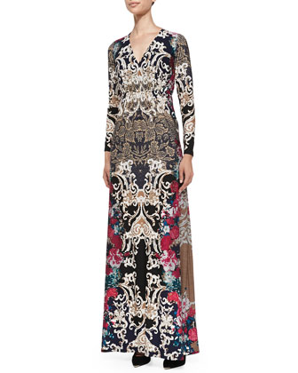 Printed Luxe Jersey Maxi Dress, Women's