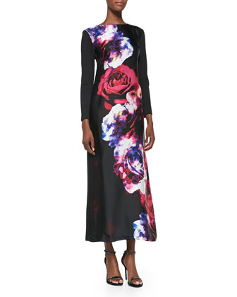 Floral-Print Long Dress, Women's