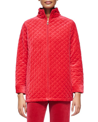 Quilted Velour Jacket, Women's