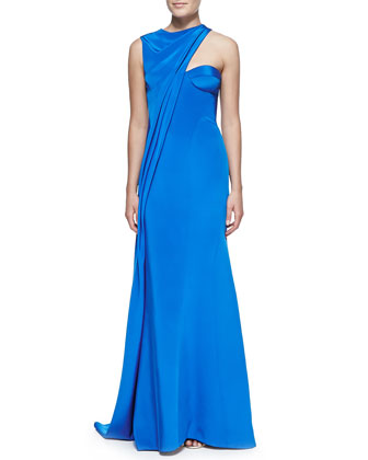 Sleeveless Asymmetric Gown