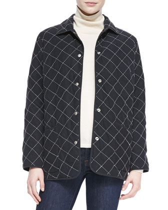 Quilted Silk Barn Jacket, Women's
