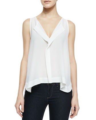Sleeveless High-Low Top