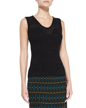 Lily Jacquard Tank Top and Helix Printed Knit Skirt