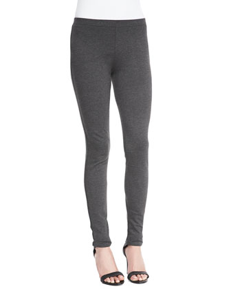Keena Knit Pull-On Leggings, Heather Charcoal