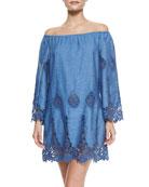 Bridgette Floral Crochet Dress