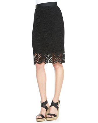Lou Swirly-Lace Crop Top & Scarlett Swirly-Lace Pencil Skirt