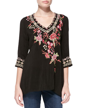 Leah Embroidered Blouse, Women's