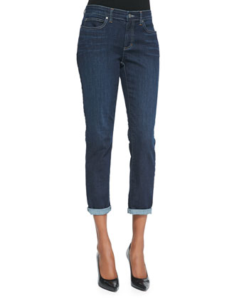 Slim Stretch Ankle Jeans, Washed Indigo