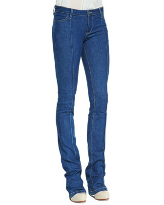 High-Waist Boot-Cut Jeans